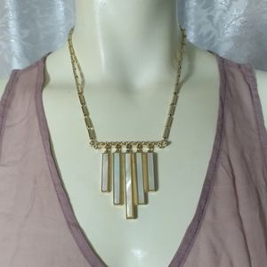 Designer Gold Plated Mother of Pearls Necklace